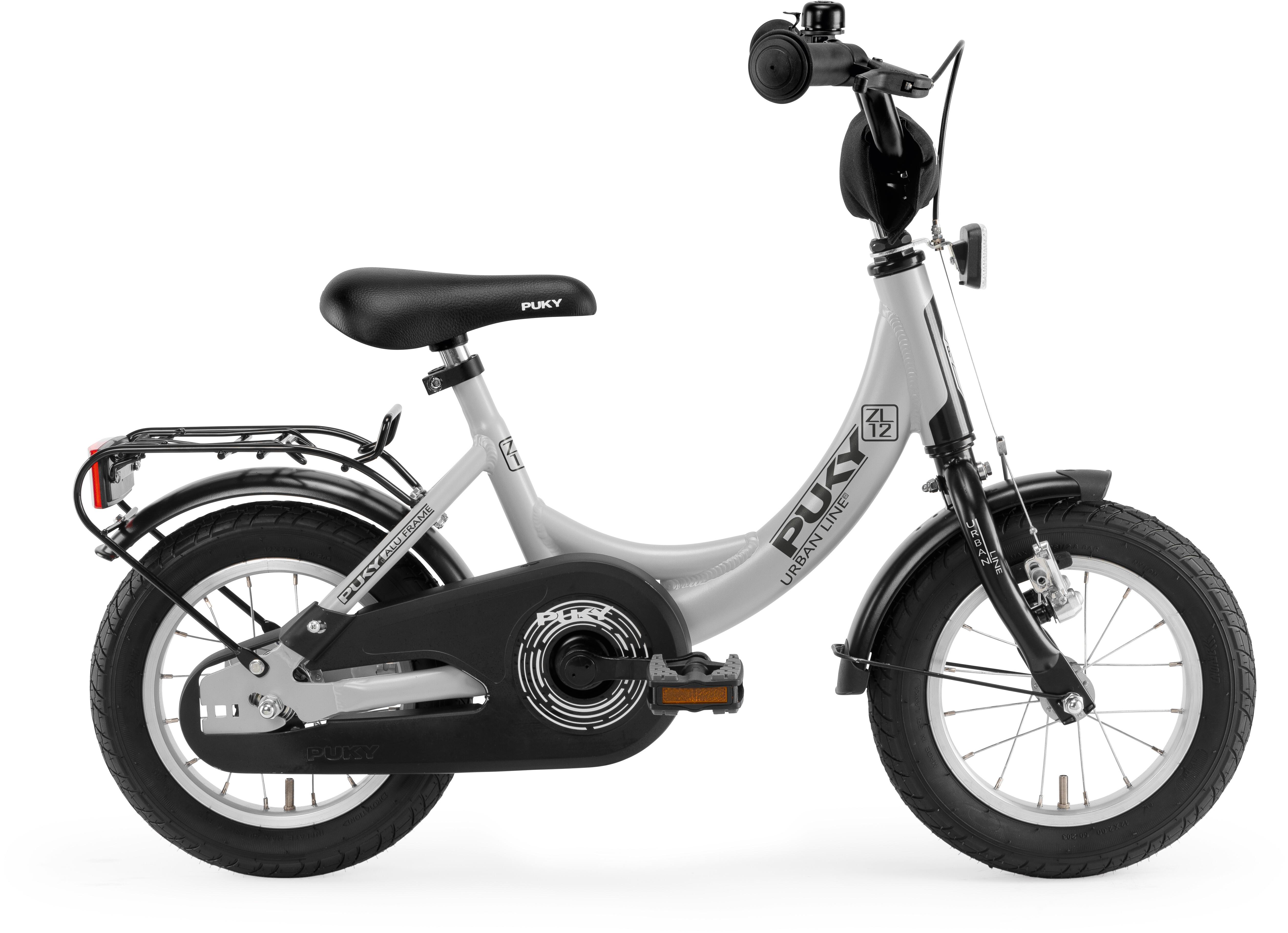 puky zl 12 1 alu fahrrad 12 kinder lichtgrau schwarz. Black Bedroom Furniture Sets. Home Design Ideas